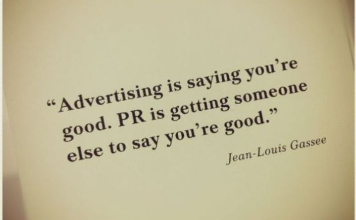 Advertising v PR_Jean-Louis Gassee quote